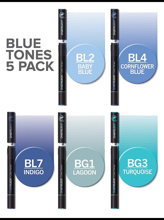 Chameleon Color Tones - Set 5 Marcadores Tonos Azules