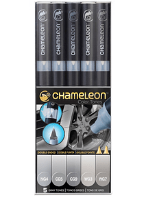 Chameleon Color Tones - Set 5 Marcadores Tonos Grises