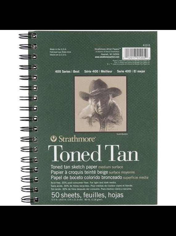Strathmore Toned Tan - Croquera 14 x 21,6 cm 118 gr/m2 50 hojas