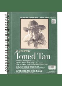 Strathmore Toned Tan - Croquera 22,9 x 30,5 cm 118 gr/m2 50 hojas