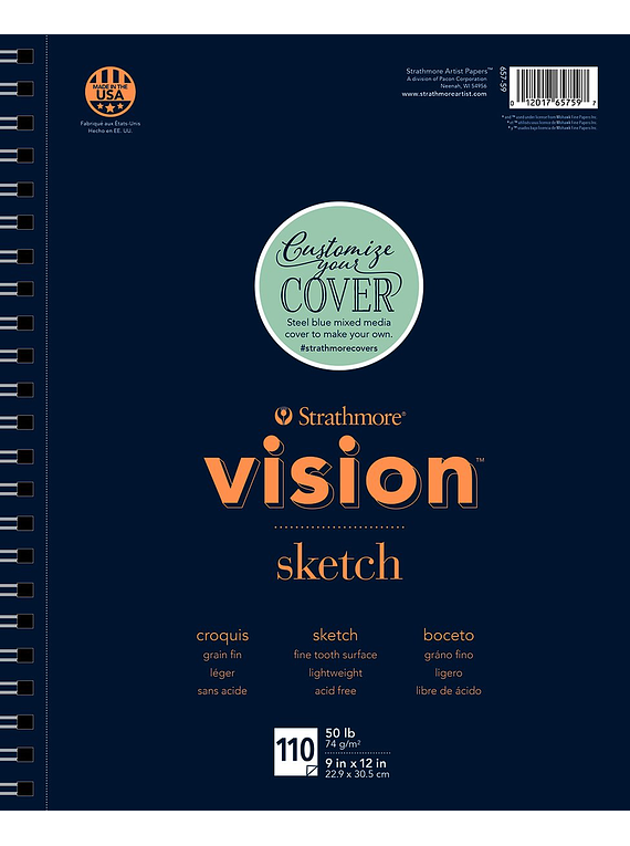 Strathmore Vision Sketch - Croquera 22,9 x 30,5 cm 74 gr/m2 110 hojas