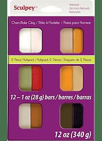 Sculpey III - Arcilla Polimérica Multipack Colores Naturales 12 x 28 g