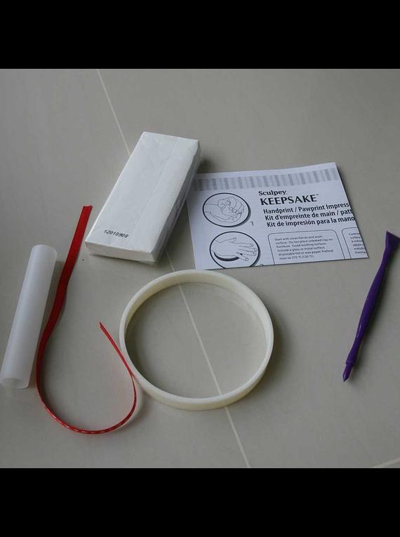 Sculpey Keepsake - Kit Arcilla Polimérica; Adorno para Huellas de Bebé