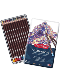 Derwent Coloursoft - Set 12 Lápices de Colores