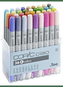 Copic Ciao - Set 36 Marcadores Colores C