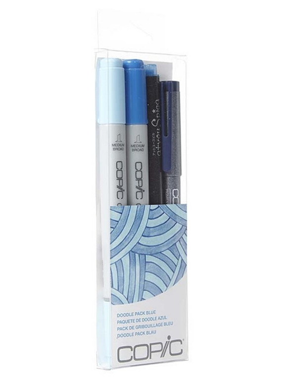 Copic Doodle - Kit Marcadores Azules; Ciao Markers, Tiralíneas Multiliner y Atyou Spica