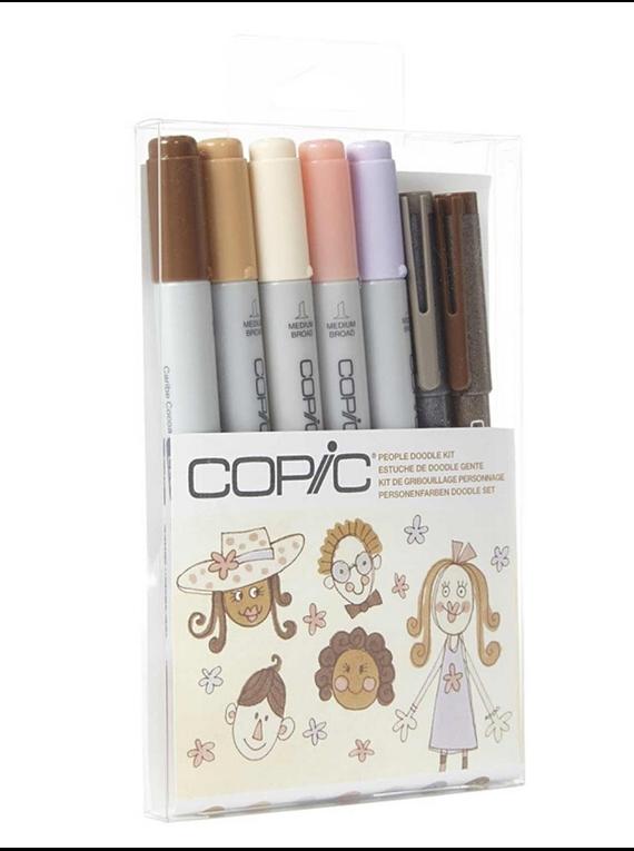 Copic Doodle - Kit Marcadores People; Personas