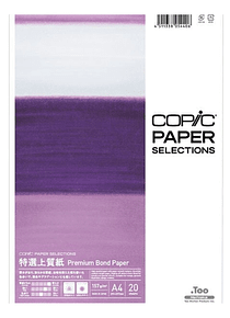 Copic Paper Selections - Pack 20 Hojas Premium Bond Paper; A4 21 x 29,7 cm, 157 gr/m2