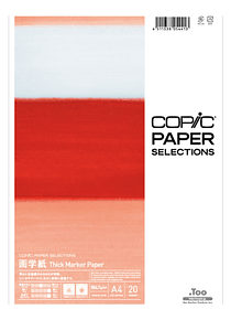Copic Paper Selections - Pack 20 Hojas Thick Marker Paper; A4 21 x 29,7 cm, 186 gr/m2