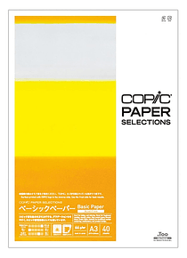Copic Paper Selections - Pack 40 Hojas Basic Paper; A3 29,7 x 42 cm, 66 gr/m2