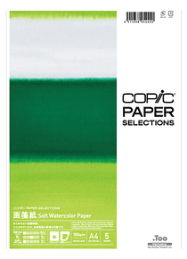 Copic Paper Selections - Pack 5 Hojas Gasen-Shi (Acuarela); A4 21 x 29,7 cm, 100 gr/m2