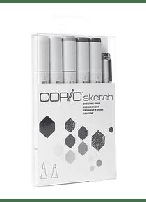 Copic Sketch - Kit Marcadores Sketching Grays; Grises de Bosquejo