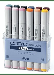Copic Sketch - Set 12 Marcadores Ex 2