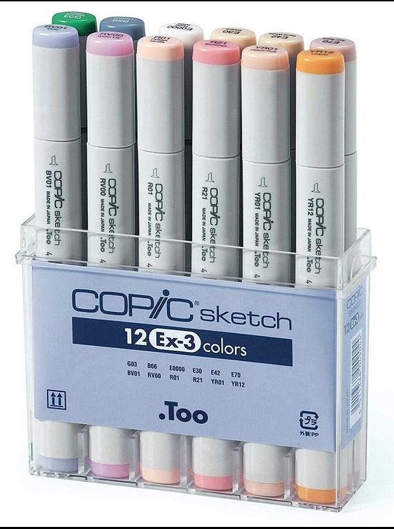 Copic Sketch - Set 12 Marcadores Ex 3