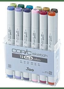 Copic Sketch - Set 12 Marcadores Ex 6
