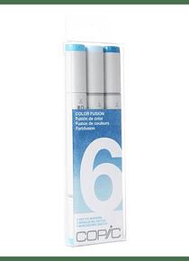 Copic Sketch - Set 3 Marcadores Color Fusión 6;  Azul