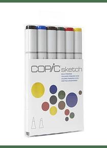 Copic Sketch - Set 6 Marcadores Bold Primaries; Colores Primarios Vivos