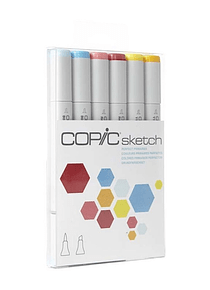 Copic Sketch - Set 6 Marcadores Perfect Primaries; Colores Primarios Perfectos