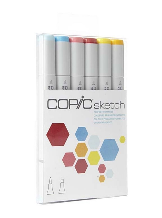 Copic Sketch - Set 6 Marcadores Perfect Primaries; Colores Primarios Perfectos
