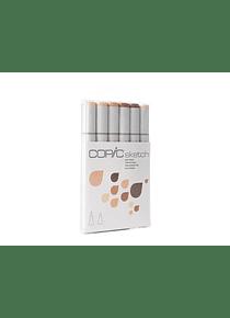 Copic Sketch - Set 6 Marcadores Skin Tones; Tonos Piel