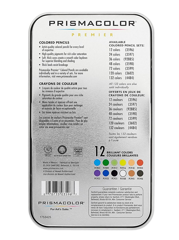 Prismacolor Premier - Set 12 Lápices de Colores