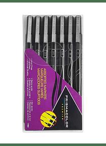 Prismacolor Premier - Set 7 Tiralíneas; Negro, Puntas Surtidas