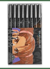Prismacolor Premier - Set 8 Tiralíneas; Serie Manga, Puntas Surtidas