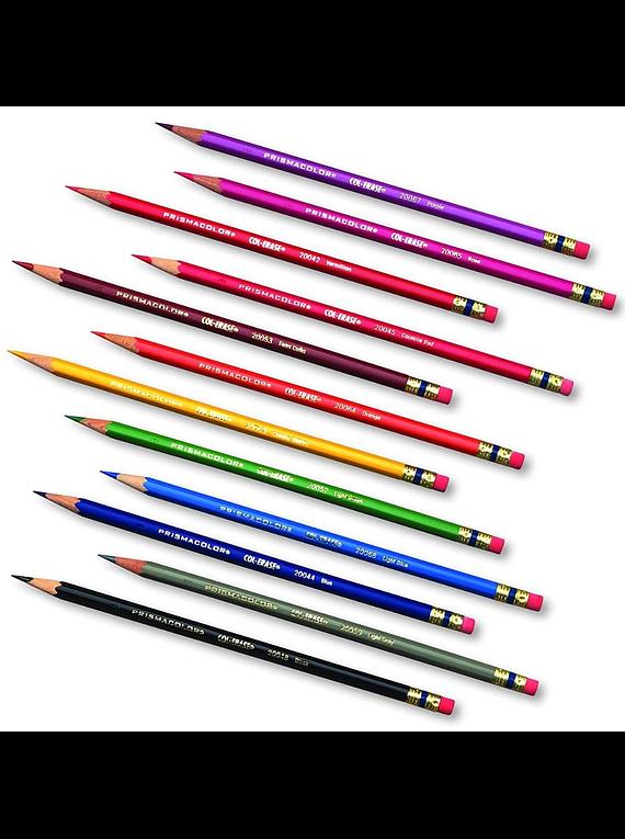Prismacolor - Set de 12 Lápices de Colores Borrables Col-Erase