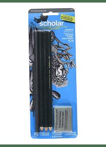 Prismacolor Scholar - Kit Grafito Dibujo en Grafito Escolar