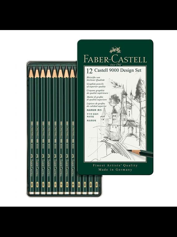 Faber Castell 9000 - Set 12 Lápices Grafito A, Diseño