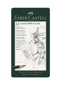 Faber Castell 9000 - Set 12 Lápices Grafito B, Bellas Artes