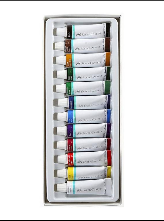 Faber Castell - Set 12 Pintura al Óleo Starter Kit Oil