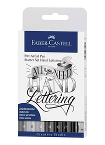 Faber-Castell Pitt Artist Pen - Starter Kit Hand Lettering;