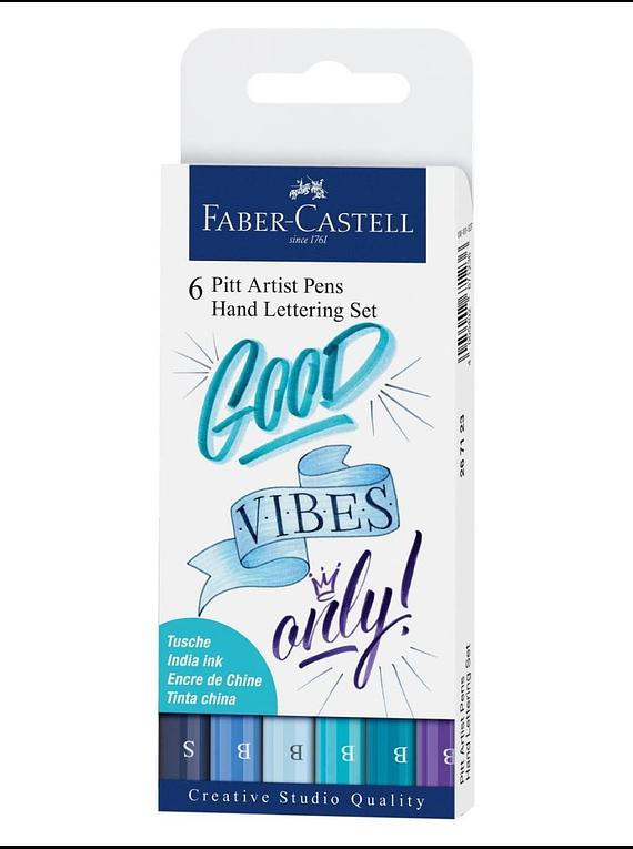 Faber-Castell Pitt Artist Pen - Kit Lettering Good Vibes Only; Tinta China Pigmentada