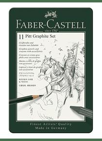 Faber-Castell Pitt Graphite - Kit de 11 Lápices y Accesorios