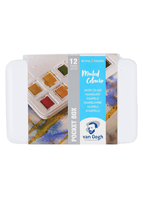 Van Gogh Pocket Box - Set 12 Acuarelas Colores Mudos