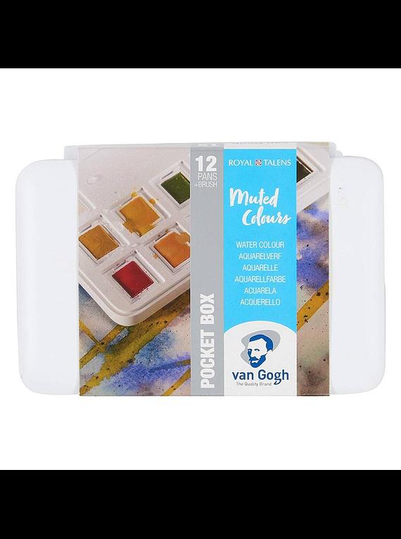 Van Gogh Pocket Box - Set 12 Acuarelas Colores Mudos