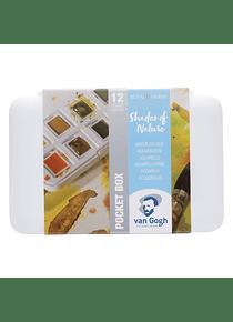 Van Gogh Pocket Box - Set 12 Acuarelas Matices de la Naturaleza