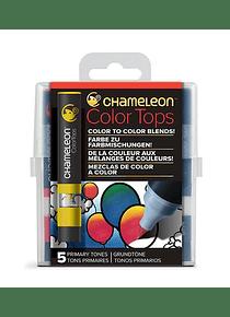 Chameleon Color Tops - Set 5 Marcadores Tonos Primarios