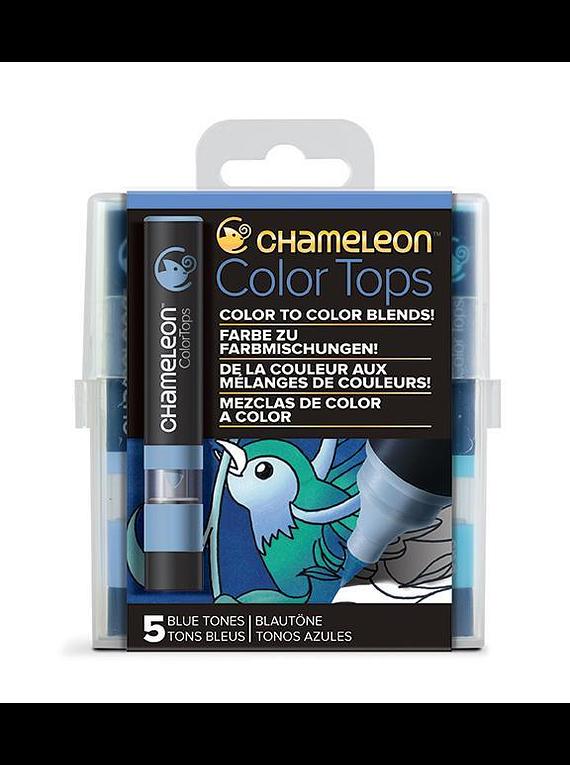 Chameleon Color Tops - Set 5 Marcadores Tonos Azules