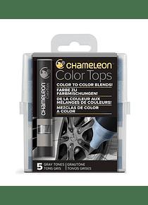 Chameleon Color Tops - Set 5 Marcadores Tonos Grises