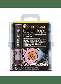 Chameleon Color Tops - Set 5 Marcadores Tonos Pastel
