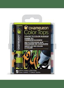 Chameleon Color Tops - Set 5 Marcadores Tonos Tierra