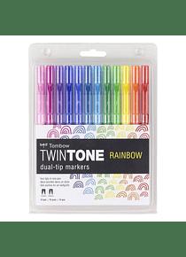 Tombow TwinTone - Set 12 Marcadores; Rainbow