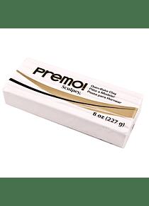 Sculpey Premo! - Arcilla Polimérica Blanco; 8 oz (227 g)