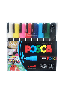Uni Posca - Set 8 Marcadores PC-5M Punta Media
