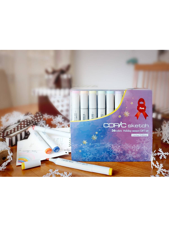 Copic Sketch - Set 36 Marcadores Colores Holiday Season Gift