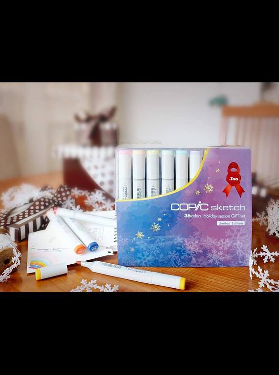 Copic Sketch - Set 36 Marcadores Colores Holiday Season Gift
