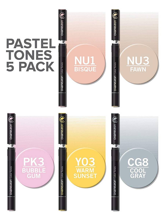 Chameleon Color Tones - Set 5 Marcadores Tonos Pastel
