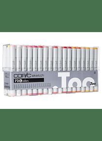 Copic Sketch - Set 72 Marcadores Colores C